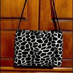 🔥Kate Spade black and white faux fur bag ♠️